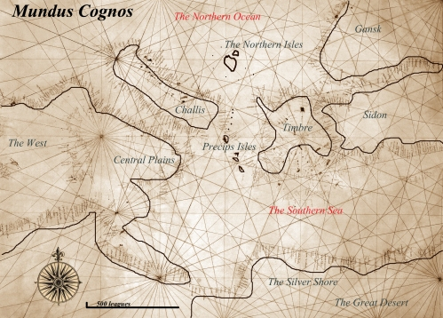 map of the known world from Magic