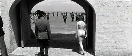 Hungarian caning movie - woman caned by soldiers