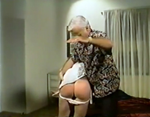 Jack Nance spanks girl in unknown spanking movie