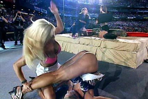 Stacy Keibler spanked