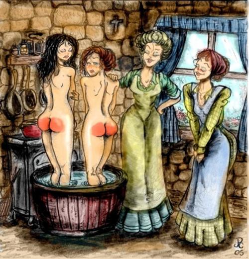 spanked bathers