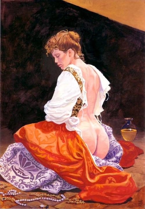 spanking illustration