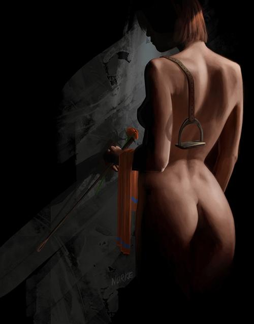 Lady Godiva prepares