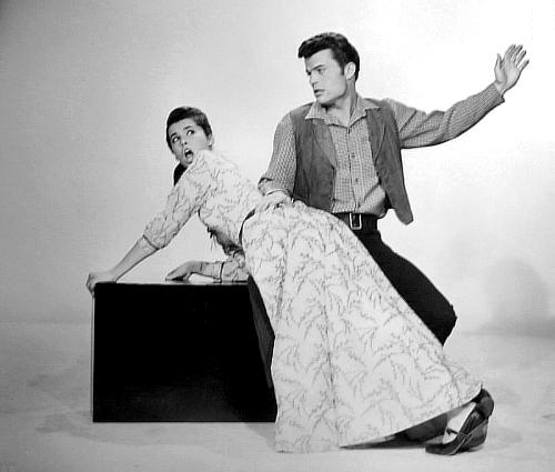 publicity still for mcklintock with Stepahnie Powers and Patrick Wayne