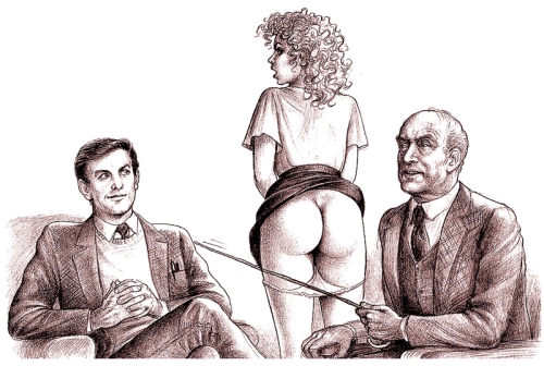 Tags: 1950s, 1960s, adult daughters, OTK, spanking