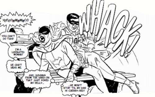 Robin spanks