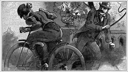 whipped on bloomers on a bicycle