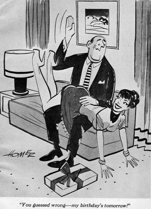 spanking toon