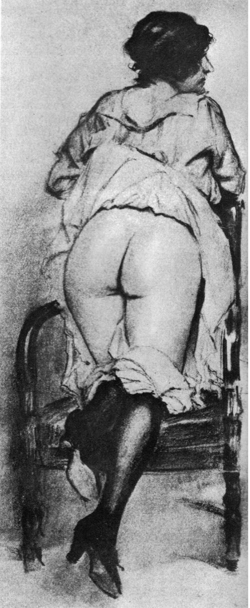 vinatge spanking picture
