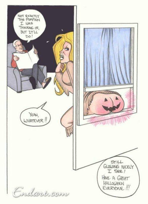 Halloween spanking