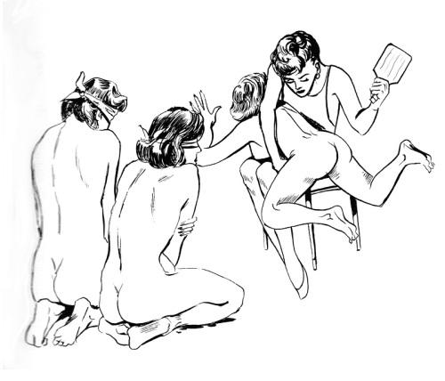 Tiptopper image blindfold spanking