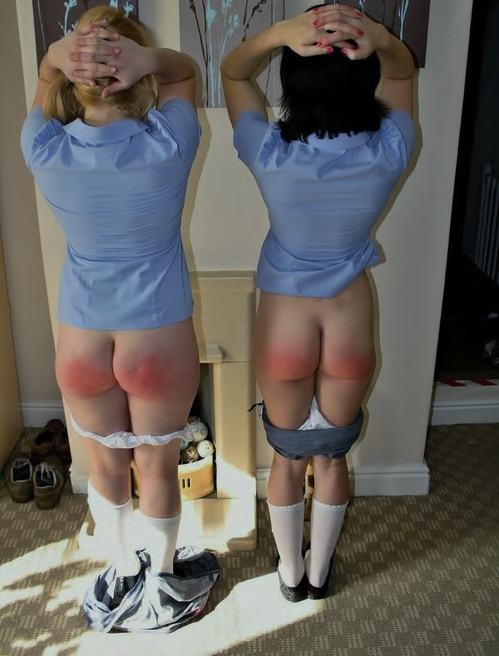 spanking and corner time for two