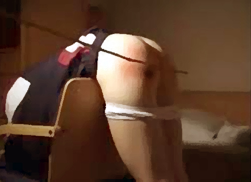 caned over chair