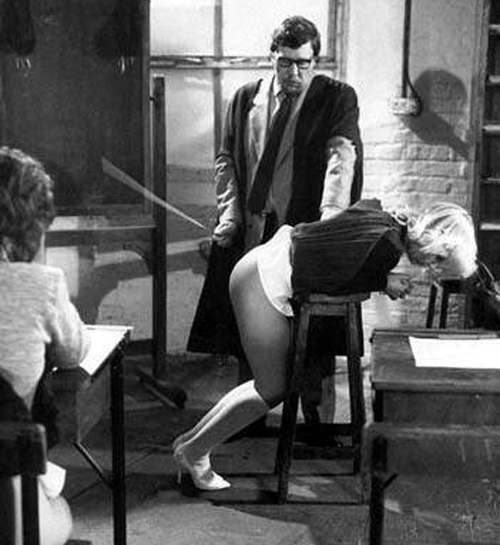 caning in action
