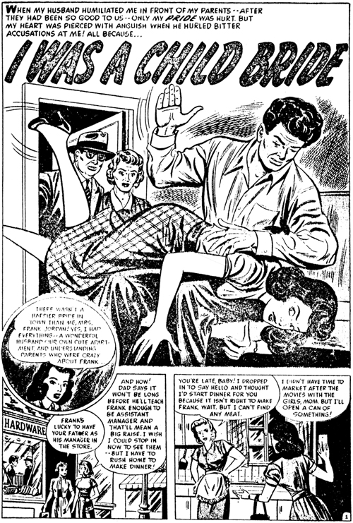 1960s comic spanking
