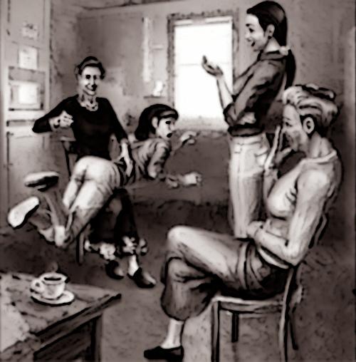 OTK spanking 1950s style