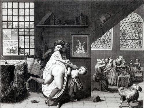 early modern marital spanking scene