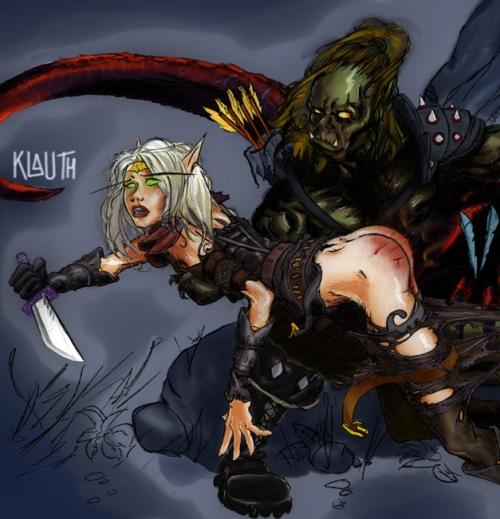 spanked elf by Klauth