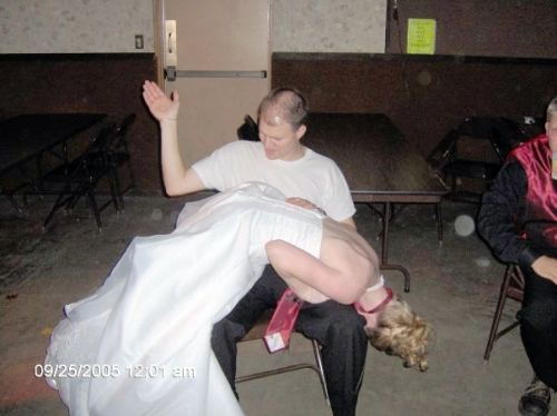 spanked at wedding