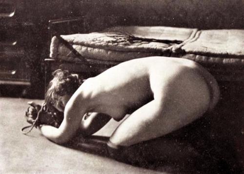 1919 bound on knees with birch