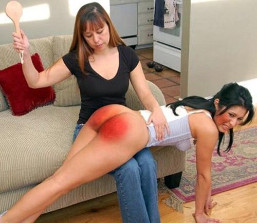 OTK spanking taxwoman