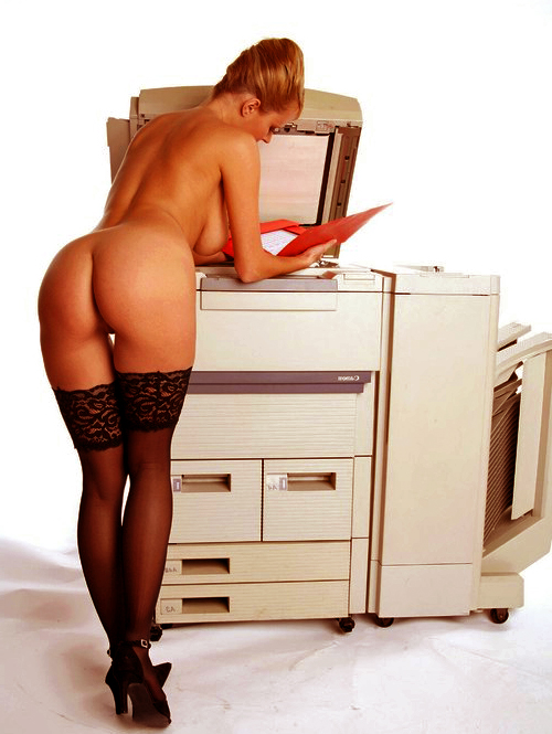 office nude