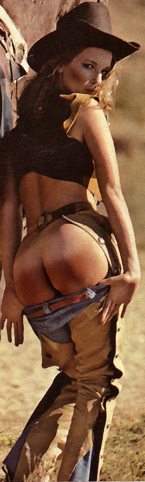 cowgirl spanked