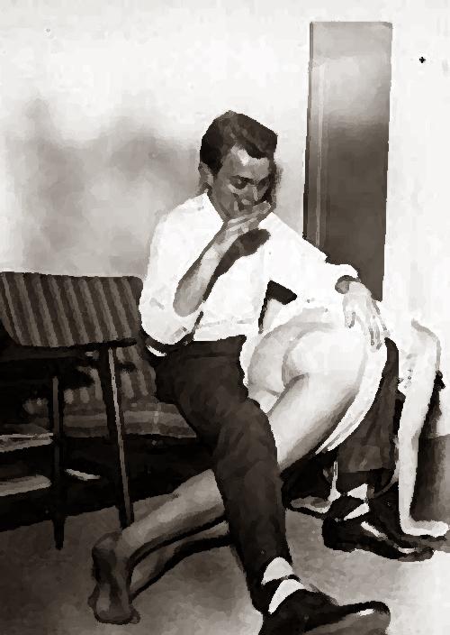 vin man-wife otk spanking poster