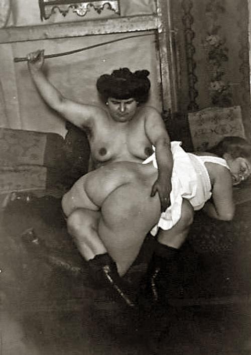 Erotic old time spanking