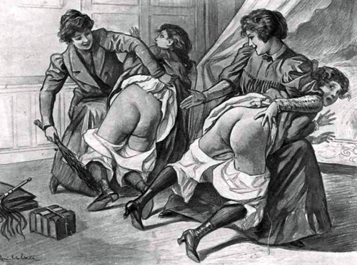 GAS louis-malteste-french-spanking-drawing- an