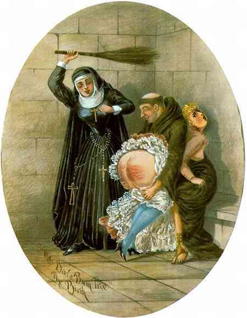 N Monk-Nun-Spank-Girl