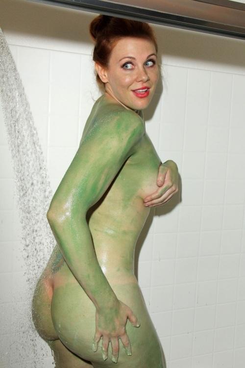 Maitland Ward Nude in Star Trek Slave Girl Costume for Comic-Con-5